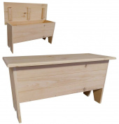 Wooden Storage Bench 0.9m long