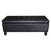 U.S. Pride Furniture Tufted Storage Ottoman Bench