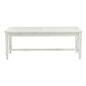 Juniper Dell Bed End Bench in 17th Century White