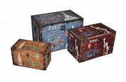 Essential Décor Entrada Collection Wooden Trunk, 16 x 60cm x 38cm /12.5 x 50cm x 30cm /9 x 39cm x 23cm