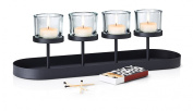 """Blomus Candle Holder """"Nero"""" For 4 Candles 17,5x56x155cm, Black/Transparent"""
