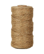 Hosaire 90m Natural Jute Twine 1MM Hemp Cord Jute Rope String Gift Twine Packing Materials Heavy Duty Natural for Arts Crafts Gardening Applications
