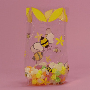 Bumblebee Clear Cello Bags - 9.5 x 6.4cm x 10cm .