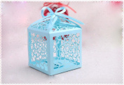 Voberry® 20 Pcs Card Paper Hollow Flower Wedding Party Baby Shower Favours Candy Gifts Boxes