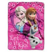 Disney Frozen Springtime Let It Go! Silk Touch Plush Throw - 120cm by 150cm