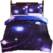 Galaxy Bedding Set Oil Print Duvet Cover Set Kids Bedding for Boys and Girls Teens Bedding Full Queen Size