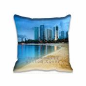 Square 41cm x 41cm Zippered Night Hawaii Beach Pillowcases Digital Print Adults Kids Cushion Covers