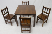 eHemco Kids Table and 4 Chairs Set Solid Hard Wood
