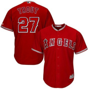 Mike Trout Los Angeles Angels of Anaheim #27 Youth Alternate Jersey Red