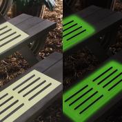 Ardisle 6 x NEW TREAD SURE NON SLIP STAIR MAT GLOW IN THE DARK STEPS STAIRS SEE IN DARK