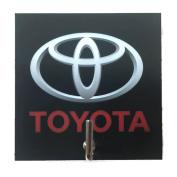 Agility Bathroom Wall Hanger Hat Bag Key Adhesive Wood Hook Vintage Toyota Car Logo's Photo