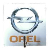 Agility Bathroom Wall Hanger Hat Bag Key Adhesive Wood Hook Vintage Opel Car Logo's Photo