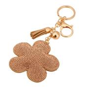 Lavany Beautyful Alloy Rhinestone Tassel Keychain Bag Handbag Key Ring Car Key Pendant 7.57.5cm
