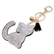 Lavany Rhinestone Tassel Keychain Bag Handbag Key Ring Car Key Pendant