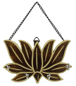 Lotus Home Decorative Wooden Wall Hanging Key Hanger With 4 Hooks Organiser