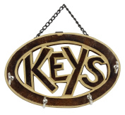 Keys Wooden Wall Hanging Key Holder 4 Hooks Home Decorative Small Organiser