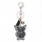 Keychain,SUPPION Owl Rhinestone Tassel Keychain Bag Handbag Key Ring Car Key Pendant