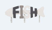GwG Outlet Wooden Metal Fish Wall Hook 38cm W, 18cm H 98861