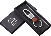 Keychain,SUPPION Men Business Alloy Keychain Gift Box Handbag Key Ring Car Key Pendant