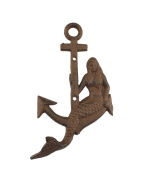 Cast Iron Mermaid and Anchor Wall Hook