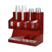 Mind Reader Fancy Acrylic Jumbo Condiment Organiser, Red