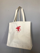 Little Monkey Tote Bags, Natural Canvas Tote Bags