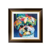 Bettal 5D Diamond Embroidery Dog Painting Cross Stitch DIY Art Craft Home Decoration