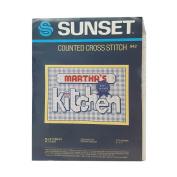 "Vintage Sunset ""Blue Ribbon Kitchen"" Counted Cross Stitch No. 942"
