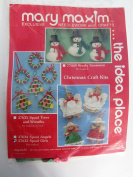 Mary Maxim Needlework and Crafts kit - 6 wooden spool Girls ornaments 37633