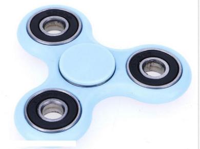 Light Blue Tri-Spinner Fidget Ceramic Edc Ball Hand Finger Spinner Toy For Kids
