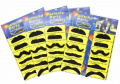 PrettyFNT 48 PCS Novelty Fake Moustaches, Self Adhesive Moustaches, Moustache Party Supplies for Masquerade Party & Performance