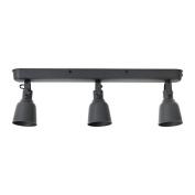 IKEA HEKTAR - Ceiling track, 3-spots Dark grey