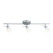 IKEA BASISK - Ceiling track, 3-spots Nickel-plated/white