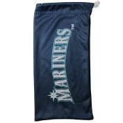 MLB Seattle Mariners Microfiber Sunglass Bag, Navy Blue, Adult