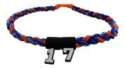 Custom Number - 50cm Royal Blue Orange Tornado Necklace