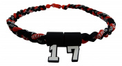 Custom Number - 50cm All Black & Red Tornado Necklace