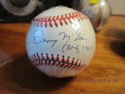 Denny McLain Autographed Ball - 31 6 1968 OAL guaranteed to pass - PSA/DNA Certified - Autographed Baseballs