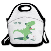 Tea-Rex Funny Dinosaur Coffee Mug Lunch Bag Box Tote Bag
