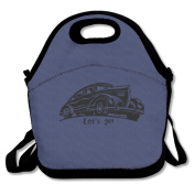 Let's Go Lunch Bag Box Tote Bag