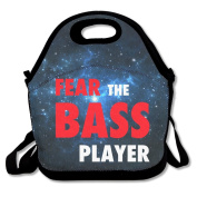 Fear The Bass Player Lunch Bag Box Tote Bag