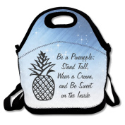 BE A PINEAPPLE STAND TALL WEAR A CROWN Lunch Bag Box Tote Bag