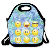 Smiley Emoticons Lunch Bag Box Tote Bag