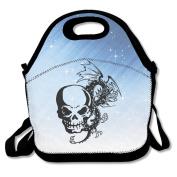 Skull Dragon Lunch Bag Box Tote Bag