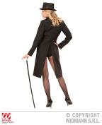 Large Black Ladies Long Tailcoat