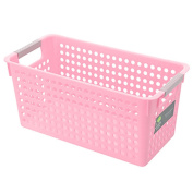 Olpchee PP Plastic Storage Laundry Baskets Thickening Rectangle Stackable Bathroom Kitchen Storage Boxes