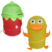 Duck and Flower Shape Non Zipper Pop Up Polyester Laundry Hampers cum Bags