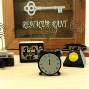 Sunny W Wooden Clock Memo Photo Note Clip Holder Stand
