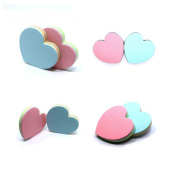 Shoppingmoon 8pcs Heart Shaped Sticky Notepads Self-Adhesive Paper Post Notes