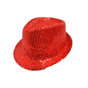 OULII Cosplay Hats Party Supplies with Sequins Fedora for Kids