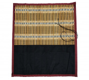 Omonic Large Handmade Roll up Bamboo Calligraphy Brush Holder Rollup Protection 38x36cm